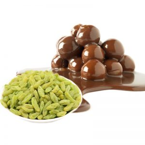 Chocolate Coated Green Raisins